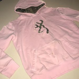 Large Pink & Camo Browning Hoodie